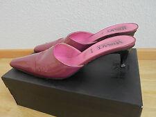 Versace Lackleder Pantoletten NP: 420€ TOP Schuhe Sandalen Pumps Gr. 39 39,5 40