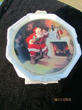 Vintage Franklin Mint Plate Coca Cola Santa Pause That Refreshes Excellent Shape