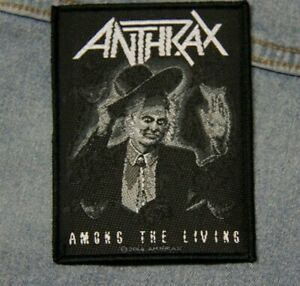 Anthrax Among the living sew  on patch retro Official merchandise