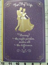 "Hallmark Cinderella Theme ""Dancing Through Life with You"" Birthday Card For Wife"