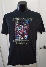 Shadowfist Equal Opportunity Butt Kicking 1996 Val Mayerik Black T Shirt XL Rare
