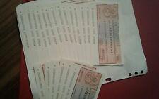 Lotto 20 pezzi Mini Assegni consecutivi FDS di 100 lire Banco di Torino RARI