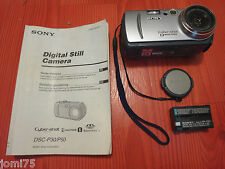 Vintage SONY JAPAN 1.3 MP Cyber-shot DSC P-30 P30 6X MPEG MOVIE Video VG