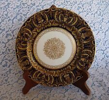 ROYAL DOULTON BURSLEM England  Ra3464 - c.1891 Blue & Encrusted Gold SALAD PLATE