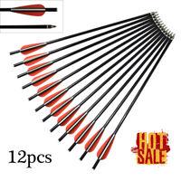 Archery Fiberglass Crossbow Bolt  Arrows, with 100 Grain Replaceable Broadhead