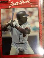 1989-1990 Donruss Jose Uribe Giants error card M/NM from pack authentic icon!!!!