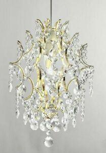 Gold Crystal Pendant Modern 1 Light Crystal Glass Sphere Light shade Easy Fit