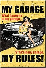 My Garage My Rules steel fridge magnet   (de)