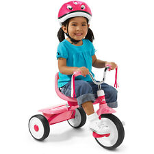 Tricycle Bike Kids Ready to Ride Folding Trike Adjustable Seat Fully Assembled