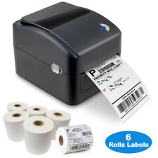 Shipping Label printer USB Direct thermal barcode w/ 4x6 in 350 labels x  6rolls