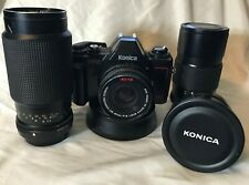 Konica TC-X DX SLR 35mm 4 Lenses 17mm 3.5, 40mm/1.8,65-135 F4 Zoom, 135mm 3.2