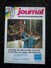 Orig.PRG    2.Bundesliga  1992/93   FC CARL ZEISS JENA - VfB OLDENBURG  !!