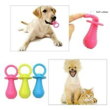 Pet Rubber Pacifier Dog Toy Interactive Rubber Soother Tooth Cleaning N1I5 J1U6