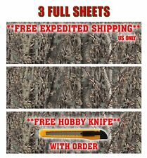 """3 CAMO DECALS MADE FROM 3M WRAP VINYL 52""""x16"""" TRUCK CAMO TREE PRINT CAMOUFLAGE"""