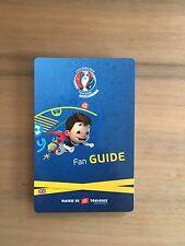 Programme Fan Guide Toulouse Euro 2016 Frankreich France EM Englisch English