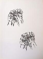 Jean-RENE Bazaine (1904-2001) litografia. rendi le Miroir 250. 1982. le mani.