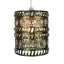 Clear Jewels In Antique Brass Moroccan Pendant Shade By Loxton Lighting