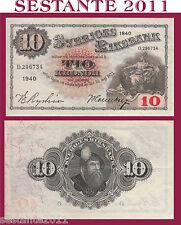 SWEDEN / SVEZIA   10 KRONOR  1940  P 34w   SPL+ / XF+