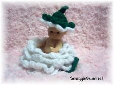 "WHITE ROSEBUD FOR 5"" BERENGUER REBORN / TINY OOAK BABY"