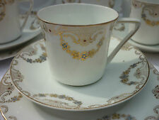 Old White with Gold Tea Set serves 6 Pretty & Delicate!