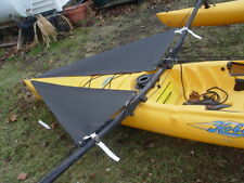 Black  Spray Shield Set for   Hobie Mirage Adventure  Tandem kayak -  2015 up
