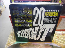 20 Instrumental Greats Wipeout LP 1984 Impression Records EX [Ventures Surfaris]