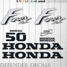 Honda 50 hp Four Stroke outboard engine decal sticker set kit reproduction 50HP