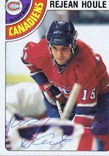 Rejean Houle 1978 Topps Autograph #227 Canadiens