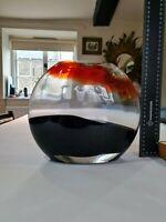 Stunning large Carlo Nason Contemporary Murano modernist art glass vase.