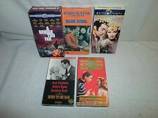 Tested ! Lot VHS Born to Be Bad/Blue Steel/The Devil is a Woman/Bridge Too Far