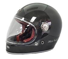 VIPER F656 RETRO VINTAGE FULL FACE MOTORBIKE MOTORCYCLE HELMET CARBON FIBRE
