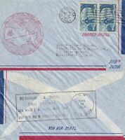 US 1953 NON STOP FIRST FLIGHT FLOWN AIR MAIL COVER LOS ANGELES TO NEW YORK BOTHa
