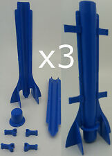 3 x Long tapered plastic candle mould. Easy candle extraction. Sticks pegs putty