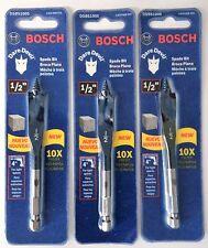 """Bosch Dare Devil Spade Stubby Drill Bit DSBS1005 1/2"""" x 4"""" (3PCS)"""