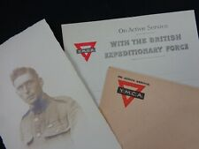 WW1 - BEF - Active Service - Photo Post Card, Writing Paper & Envelope