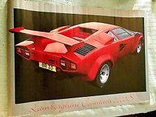 RARE ! Lamborghini Countach 5000 Poster 39x29 1987 Scandecor, Germany