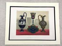 1862 Print Copeland Porcelain Decorative China Rare Antique Chromolithograph