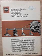 Original Eicher Prospekt Beetpflug
