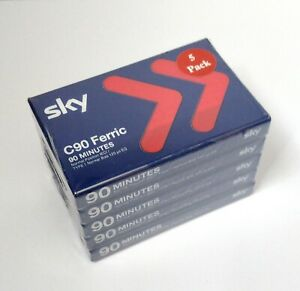 Sky C90 Ferric Blank Audio Tapes | Pack Of 5 Sealed | New