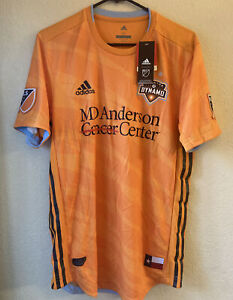 Adidas MLS Houston Dynamo 19/20 Home Authentic Climachill Soccer Jersey Size M