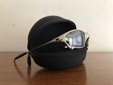 Vintage 1999 Oakley X Metal Juliet Titanium Sunglasses SILVER/ GREY LENSES 1752