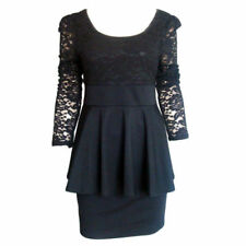 Lace Short Dresses for Women with Peplum