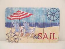 CounterArt Reversible Placemats (Set of 4) Seas the Day Beach Sand Set Sail