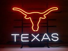 "Brand New TEXAS Long Star Real Glass Tube Beer Bar Neon Light Art Sign 16""x14"""