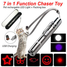 Rechargeable Cat Chaser Toy 7-in-1 LED Flashlight USB Charging