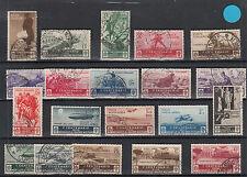 REGNO 1934 MEDAGLIE VALORE SS. 366 / 376 + P.A. SERIE 20 VALORI USATI VEDI FOTO
