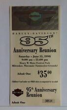 Harley-Davidson 95th Anniversary Reunion Event Ticket # 38534