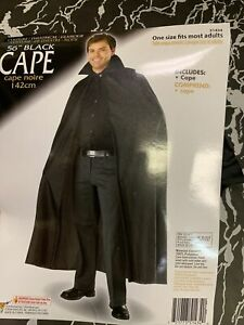 "Black Cape 56"" Forum Costume Accessory Halloween Dracula Vampire New!"
