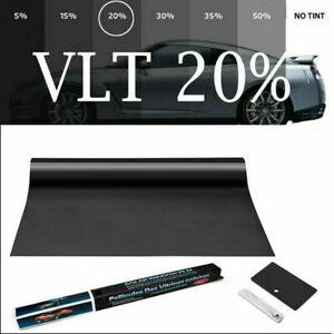 VLT20% IR100% Heat Resistant Nano Ceramic Glass Tint Car Window Film 75cmX152cm