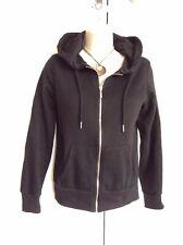 Ladies Black Zip Hoodie Size 8 Primark